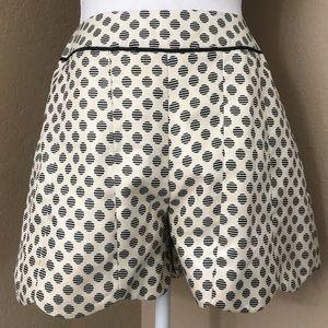 Ark & Co mid rise polka dot dressy shorts